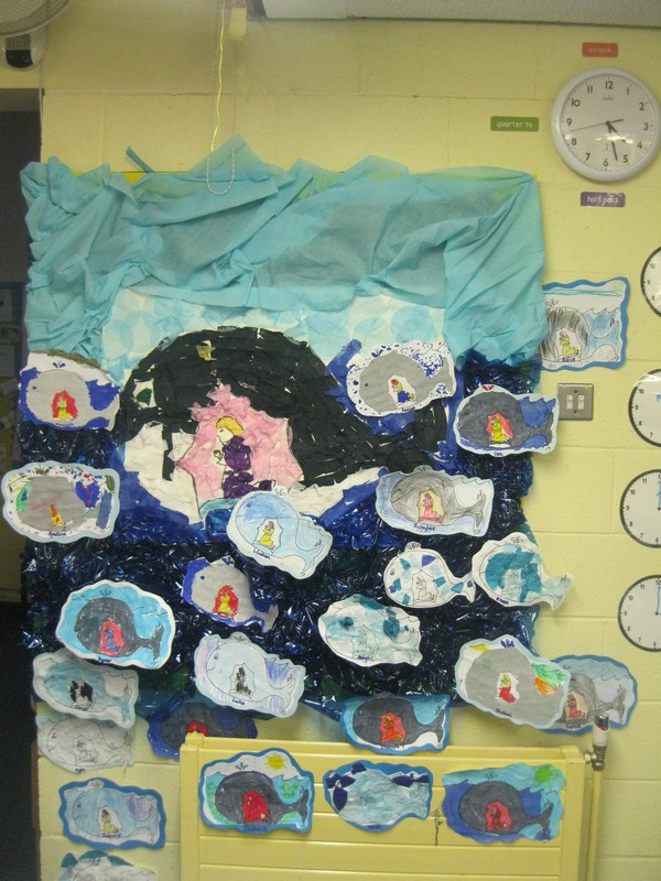 Our colourful display in the classroom